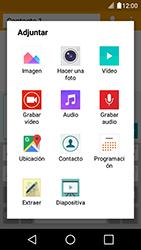 Envía fotos, videos y audio por mensaje de texto - LG K4 - Passo 14