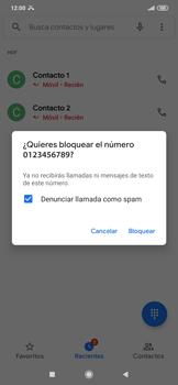 Cómo bloquear llamadas - Xiaomi Redmi 9 - Passo 5
