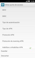 Configura el Internet - Alcatel Pop S3 - OT 5050 - Passo 15