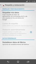 Restaura la configuración de fábrica - Sony Xperia Z3 Compact - Passo 5