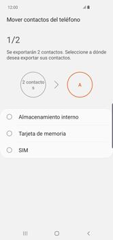 ¿Tu equipo puede copiar contactos a la SIM card? - Samsung S10+ - Passo 8