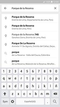 Uso de la navegación GPS - Samsung Galaxy A7 2017 - A720 - Passo 7