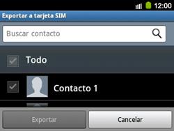 ¿Tu equipo puede copiar contactos a la SIM card? - Samsung Galaxy Y Pro GT - B5510 - Passo 6