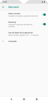 Activa o desactiva el roaming de datos - Motorola Moto G8 Play (Single SIM) - Passo 6