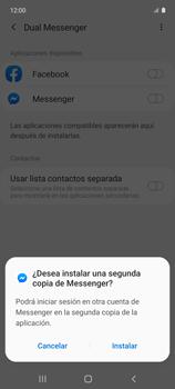 Cómo usar el Dual Messenger - Samsung Galaxy A51 - Passo 7