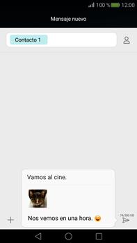 Envía fotos, videos y audio por mensaje de texto - Huawei Mate S - Passo 17