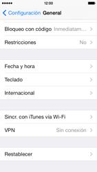 Restaura la configuración de fábrica - Apple iPhone 5c - Passo 4