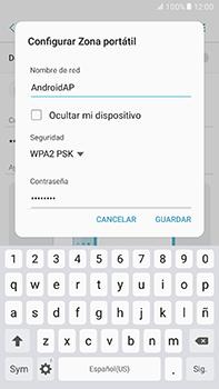 Configura el hotspot móvil - Samsung Galaxy A7 2017 - A720 - Passo 9