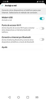 Comparte la conexión de datos con una PC - LG G7 Fit - Passo 7