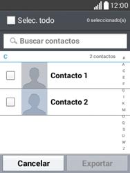 ¿Tu equipo puede copiar contactos a la SIM card? - LG L20 - Passo 7