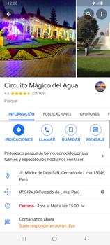 Uso de la navegación GPS - Samsung Galaxy A80 - Passo 10