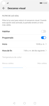 Cómo activar el modo Descanso visual para evitar la fatiga visual - Huawei Nova 5T - Passo 7