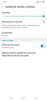 Cómo reproducir sonido con DTS: x3D Surround - LG K50s - Passo 13