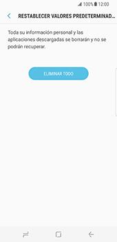 Restaura la configuración de fábrica - Samsung Galaxy S8 - Passo 8