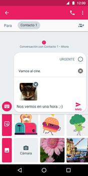 Envía fotos, videos y audio por mensaje de texto - Motorola Moto G6 Plus - Passo 17