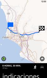 Uso de la navegación GPS - Nokia Lumia 720 - Passo 18