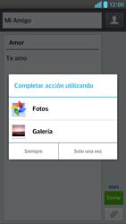 Envía fotos, videos y audio por mensaje de texto - LG Optimus G Pro Lite - Passo 13