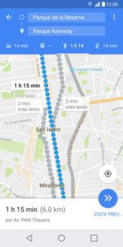 Uso de la navegación GPS - LG G6 - Passo 18