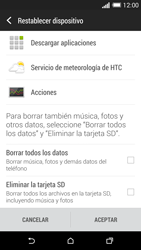 Restaura la configuración de fábrica - HTC One M8 - Passo 6