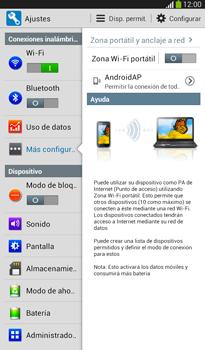 Configura el hotspot móvil - Samsung Galaxy Tab 3 7.0 - Passo 10