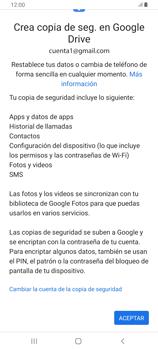 Realiza una copia de seguridad con tu cuenta - Samsung Galaxy A80 - Passo 10