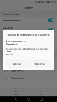 Conecta con otro dispositivo Bluetooth - Huawei Mate 8 - Passo 6