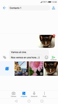 Envía fotos, videos y audio por mensaje de texto - Huawei Mate 9 - Passo 17