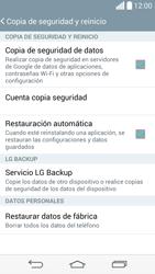 Restaura la configuración de fábrica - LG G3 Beat - Passo 6