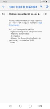 Realiza una copia de seguridad con tu cuenta - LG G7 Fit - Passo 7