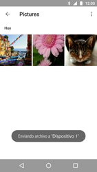 Transferir fotos vía Bluetooth - Motorola Moto G5 - Passo 10