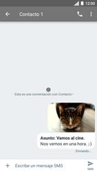 Envía fotos, videos y audio por mensaje de texto - Motorola Moto C - Passo 19