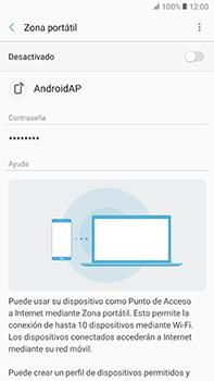 Configura el hotspot móvil - Samsung Galaxy A7 2017 - A720 - Passo 11