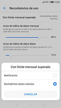Desactivación límite de datos móviles - Huawei P10 Plus - Passo 7