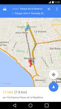 Uso de la navegación GPS - LG G4 - Passo 16