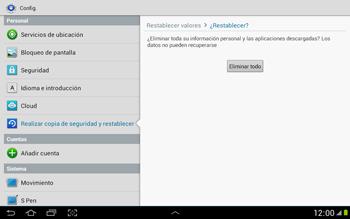 Restaura la configuración de fábrica - Samsung Galaxy Note 10-1 - N8000 - Passo 7