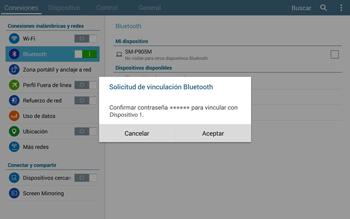 Conecta con otro dispositivo Bluetooth - Samsung Galaxy Note Pro - Passo 7