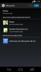 Uso de la navegación GPS - Motorola Moto E (1st Gen) (Kitkat) - Passo 12