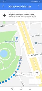 Uso de la navegación GPS - Huawei Mate 20 Pro - Passo 17