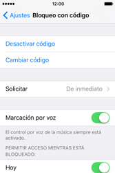 Activa o desactiva el uso del código de seguridad - Apple iPhone 4s - Passo 6