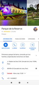 Uso de la navegación GPS - Xiaomi Redmi Note 7 - Passo 9