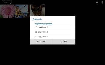 Transferir fotos vía Bluetooth - Samsung Galaxy Note Pro - Passo 10