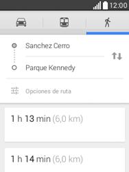 Uso de la navegación GPS - LG L20 - Passo 16