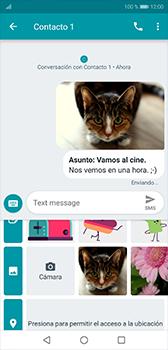 Envía fotos, videos y audio por mensaje de texto - Huawei P20 - Passo 16