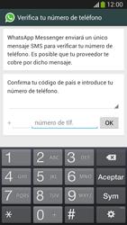 Configuración de Whatsapp - Samsung Galaxy Zoom S4 - C105 - Passo 5