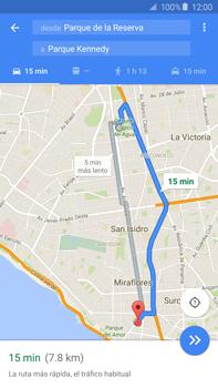 Uso de la navegación GPS - Samsung Galaxy Note 5 - N920 - Passo 15