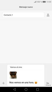 Envía fotos, videos y audio por mensaje de texto - Huawei Mate 8 - Passo 18
