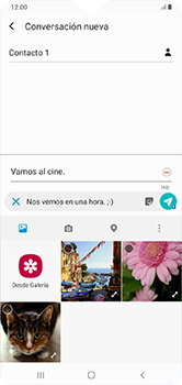 Envía fotos, videos y audio por mensaje de texto - Samsung Galaxy A10 - Passo 16