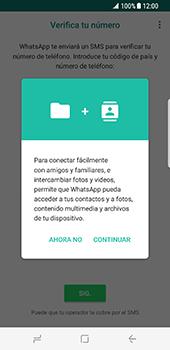 Configuración de Whatsapp - Samsung Galaxy S8 - Passo 5
