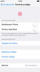 Activa o desactiva el uso del código de seguridad - Apple iPhone 7 - Passo 9