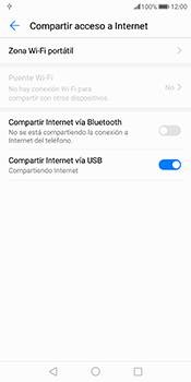 Comparte la conexión de datos con una PC - Huawei Mate 10 Pro - Passo 8